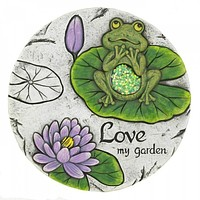 Leaping Frog Garden Stone