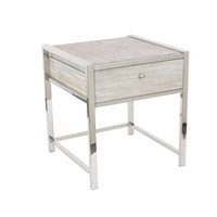 Adorable Stainless Steel Wood Side Table