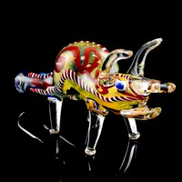 Color Changing Glass Rhino Pipe - AP206