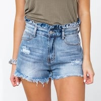 Darling Frayed Paperbag Waist Shorts
