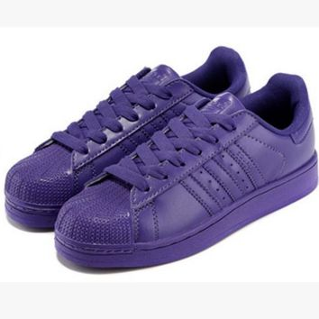 """Fashion """"Adidas"""" Shell-toe Flats Sneakers Sport Shell-toe Pure color Shoes (7-Color) P"""
