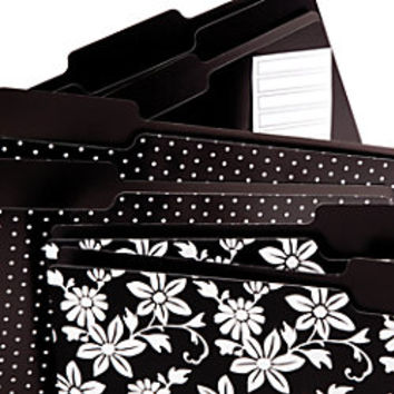 See Jane Work File Folders Letter Size 13 Cut Tabs Black Print Pack Of 6 by Office Depot