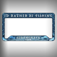 Rather be Fishing Custom Licence Plate Frame Holder Personalized Car Accessories