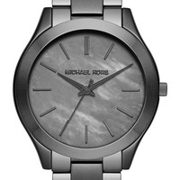 Women's Michael Kors 'Slim Runway' Bracelet Watch, 42mm - Gunmetal