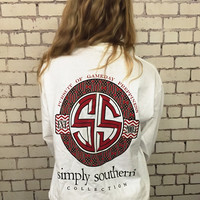 Simply Southern Nole Gameday Long Sleeve - Garnet/White