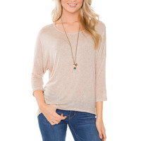 Devyn Basic Top - Oatmeal