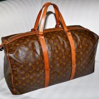 DCCK Make an Offer LOUIS VUITTON Keepall 55 Sac Souple Duffel Bag Large Size LV Monogram Tr