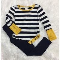 Girls Triple button Top