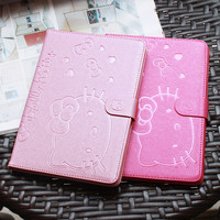 Cute Hello Kitty Stand Magnetic Smart Tablet Case Cover For Apple iPad Mini 1 Mini 2 Mini 3 Case Cover Girl Kids Gift Protector
