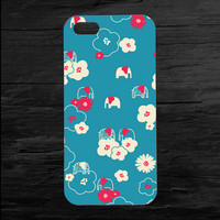Elephant Flowers  iPhone 4 and 5 Case