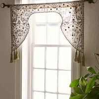 Magical Thinking Embroidered Window Valance