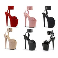"""Flamingo 891 Wide Ankle Cuff Shoes - 8"""" High Heels"""