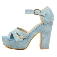 Candy Color High Heel Sandals for Women NCDX061617 from topsales