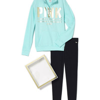 Boyfriend Half Zip & Legging Gift Set - PINK - Victoria's Secret
