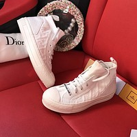 Dior new low-top letter flat lace-up sneakers shoes