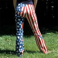 American Flag Long Women Pants