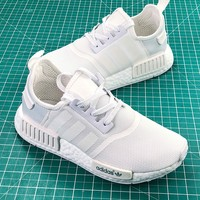 Adidas Nmd R1 Pk Boost Triple White Sport Running Shoes - Best Online Sale