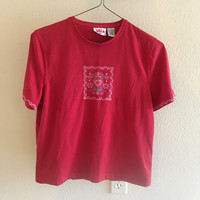 Red Heart Tee Vintage S
