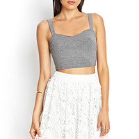 FOREVER 21 Crochet Lace A-Line Skirt White
