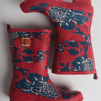 Molly Floral Print Rain Boots By Joules
