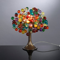 Multicolored bubble Table lamp with metal wires, small decor table lamp, colorful bubbles lighte for desk or bedside table.