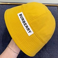 Burberry New fashion letter couple cap fisherman hat Yellow
