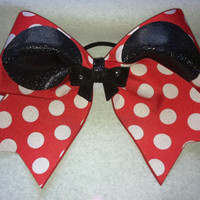 3 3 inch cheer cheerleader bowRed White by blingitoncheerbows