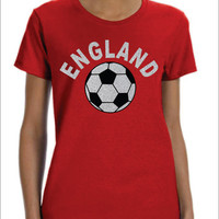ENGLAND Flowy Racer Back Tank Top World Cup 2014 English Soccer Football