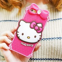 iPhone 6 Hello Kitty Classic Silicone Cute Case