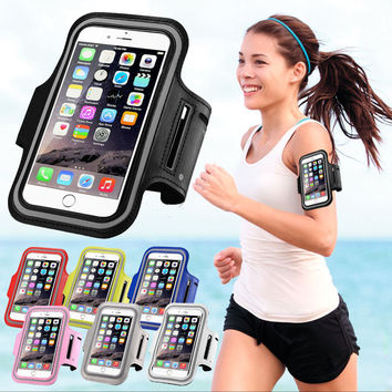 Sport Arm Band Case For iPhone 6 6S Gym Waterproof For Samsung Galaxy S3 S4 S5 S6/Edge S7  PU Leather Phone Cover