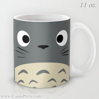 Totoro Kawaii My Neighbor11 / 15 oz Mug Dishwasher Microwave Safe Cup Tea Coffee Drink Anime Grey Manga Troll Hayao Miyazaki Studio Ghibli