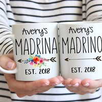 Madrina Mug, Gift for Madrina, Madrino Mug, Spanish Godparents gift, Gift for Godparents, la Madrina gift, Gift from Godchild to Godmother