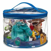 disney parks pixar pals sulley woody buzz squeeze bath toy set new with case