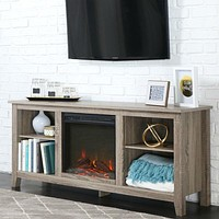 Driftwood 58-inch Electric Fireplace TV Stand Space Heater