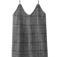 Checked Tweed Cami Dress