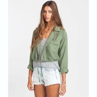 Billabong Women's Moonlit Nights Cropped Jacket Seagrass