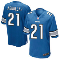 KUYOU Detroit Lions Jersey - Ameer Abdullah Blue Game Jersey- YOUTH