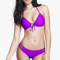 PUSH-UP TRIANGLE BIKINI TOP - BERRY from EXPRESS
