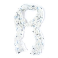 Anchor and Seahorse Scarf | Claire's