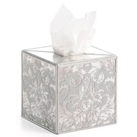 Silver Damask Mirror Tissue Box