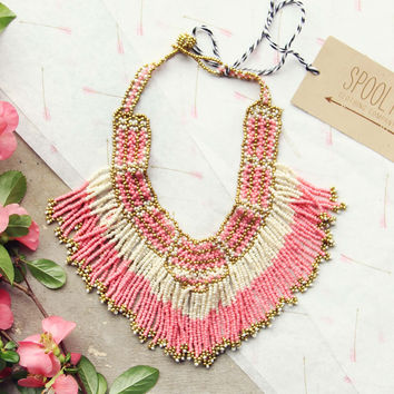Arid Gems Necklace in Peony