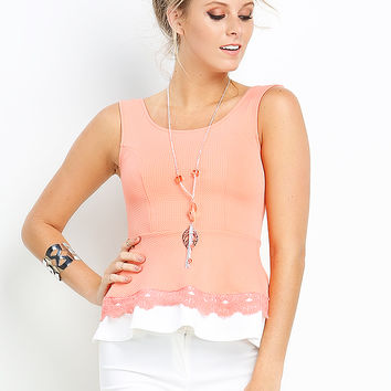 Embroidered Fit And Flare Top