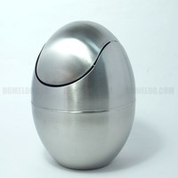 Stainless Steel Egg Garbage Can