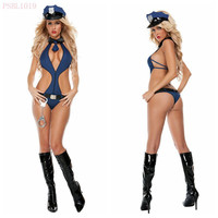 sexy lingerie female police cosplay uniform Cop Halloween Costumes appeal uniform