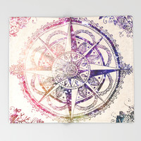 Voyager II Throw Blanket by Jenndalyn | Society6