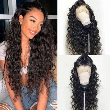 New style wigs, women's mid-point black long curly hair, small curly hair, synthetic headgear