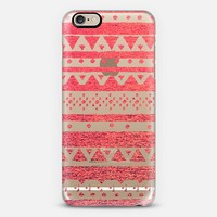 CORAL TRIBAL - CRYSTAL CLEAR PHONE CASE iPhone 6 case by Nika Martinez | Casetify