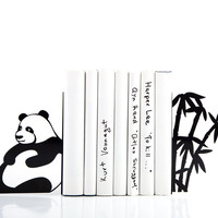 Sitting Panda Bookends