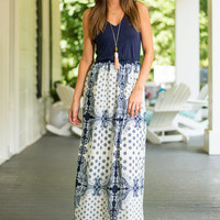 Flatter Me Well Maxi Dress, Navy