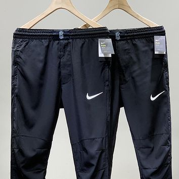 NIKE New fashion hook print couple pants Black
